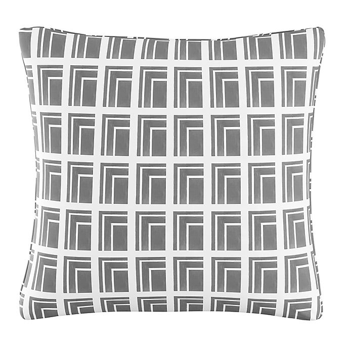 Alternate image 1 for Cloth & Company Geometric Print Throw Pillow in Achitecture Grey