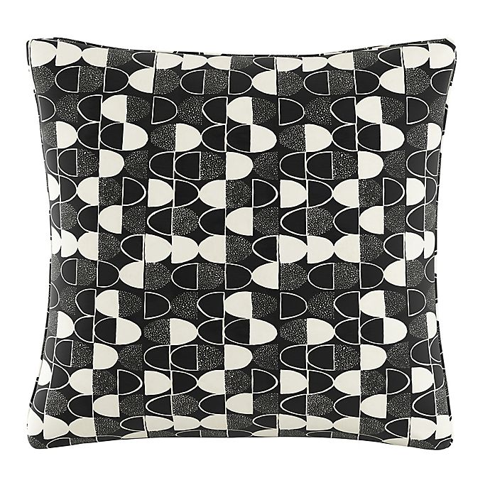 Alternate image 1 for Cloth & Company Semicircles Geometric Print Throw Pillow in Fashion Black