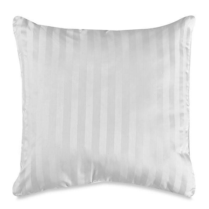 Alternate image 1 for Wamsutta® 500-Thread-Count PimaCott® Damask Stripe European Throw Pillow