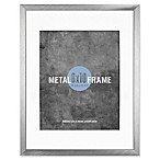 Gallery 8-Inch x 10-Inch Matted Brushed Metal Frame in Silver