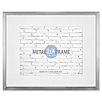 Gallery 11-Inch x 14-Inch Matted Brushed Metal Frame in Silver