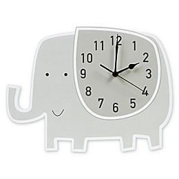 Trend Lab® Elephant Wall Clock in Grey/White