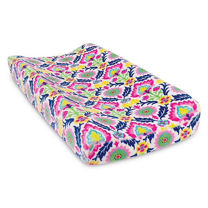 Alternate image 1 for Waverly® Baby by Trend Lab® Santa Maria Plush Changing Pad Cover