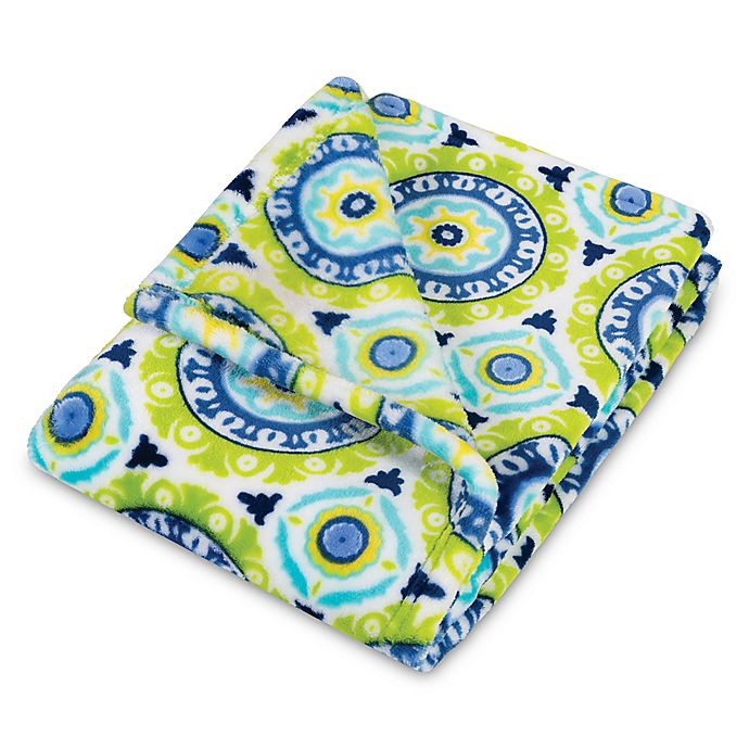 Alternate image 1 for Waverly® Baby by Trend Lab® Solar Flair Plush Baby Blanket