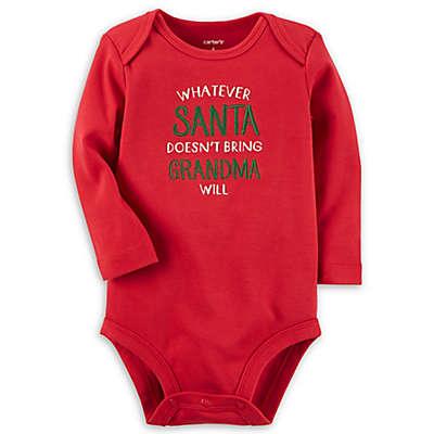 carter's® Santa and Grandma Bodysuit in Red