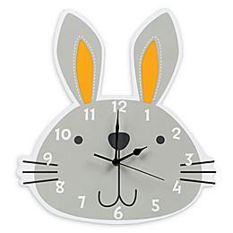 Trend Lab® My Little Friends Bunny Wall Clock in Grey