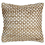Boho Living Jada Square Throw Pillow in White