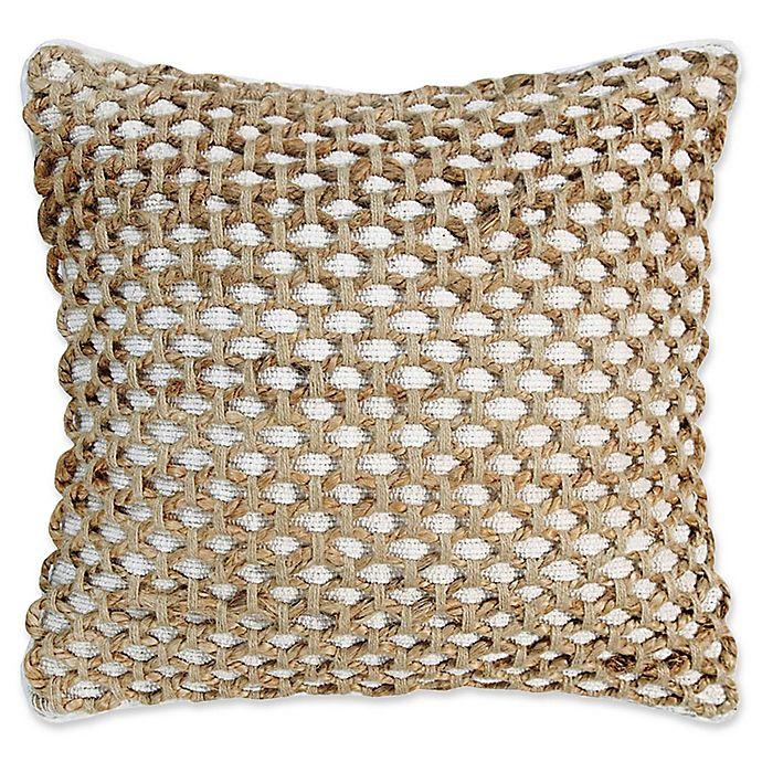Alternate image 1 for Boho Living Jada Square Throw Pillow in White
