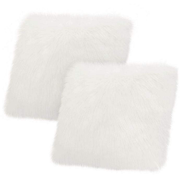 Alternate image 1 for Jean Pierre Faux Fur Square Throw Pillow (Set of 2)