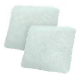Jean Pierre Faux Fur Square Throw Pillow (Set of 2)
