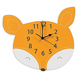 Trend Lab® Forest Tales Fox Wall Clock in Orange