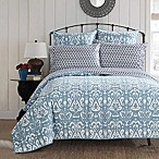 Chic Home Carson Reversible King Quilt in Navy