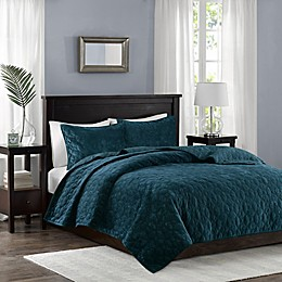 Madison Park Harper Velvet Reversible Coverlet Set