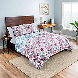 Vue® Bethania 2-Piece Reversible Twin/Twin XL Quilt Set in Pink/Blue