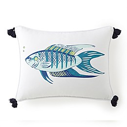 Levtex Home Breakwater Fish Oblong Throw Pillow in White