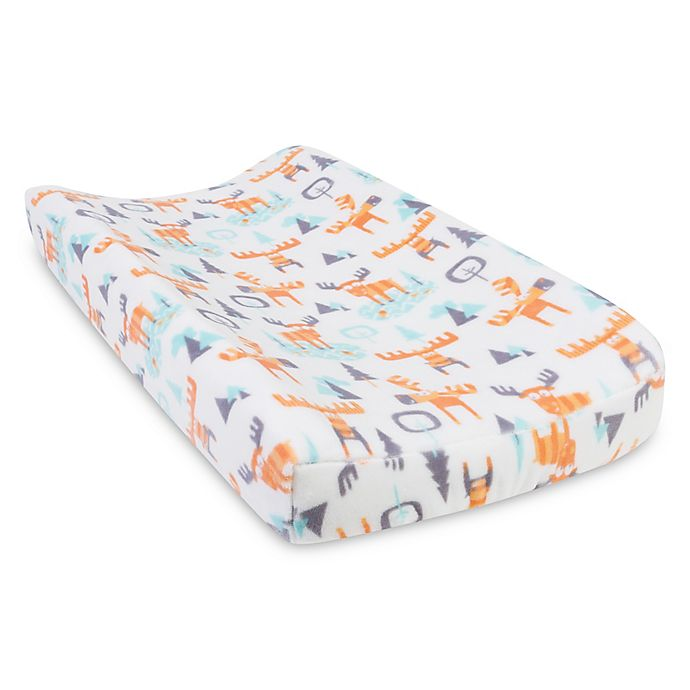 Trend Lab® Forest Tales Woodland Moose Changing Pad Cover | Bed Bath