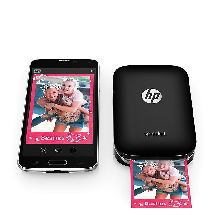 hp sprocket pocket photo printer 2nd edition bundle (blush)