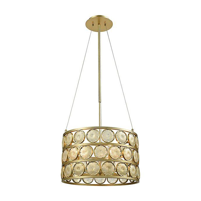 Alternate image 1 for Dimond Lighting Signet Chandelier in Amber/Gold