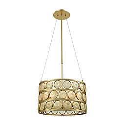 Dimond Lighting Signet Chandelier in Amber/Gold