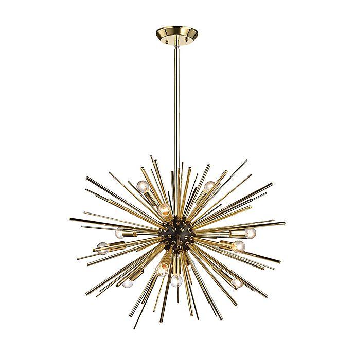 Alternate image 1 for Diamond Lighting Starburst 12-Light Pendant