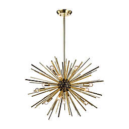 Diamond Lighting Starburst 12-Light Pendant