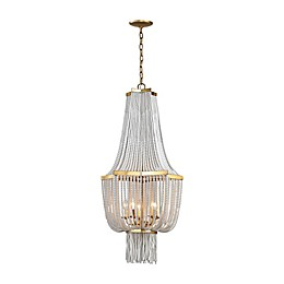 Diamond Lighting Chaumont 5-Light Ceiling Mount Chandelier in Antique Gold
