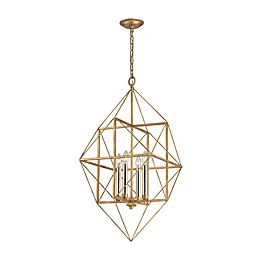 Connexions 4-Light Pendant in Antique Gold/Silver