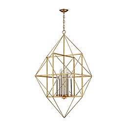 Connexions 8-Light Pendant in Antique  Gold/Silver