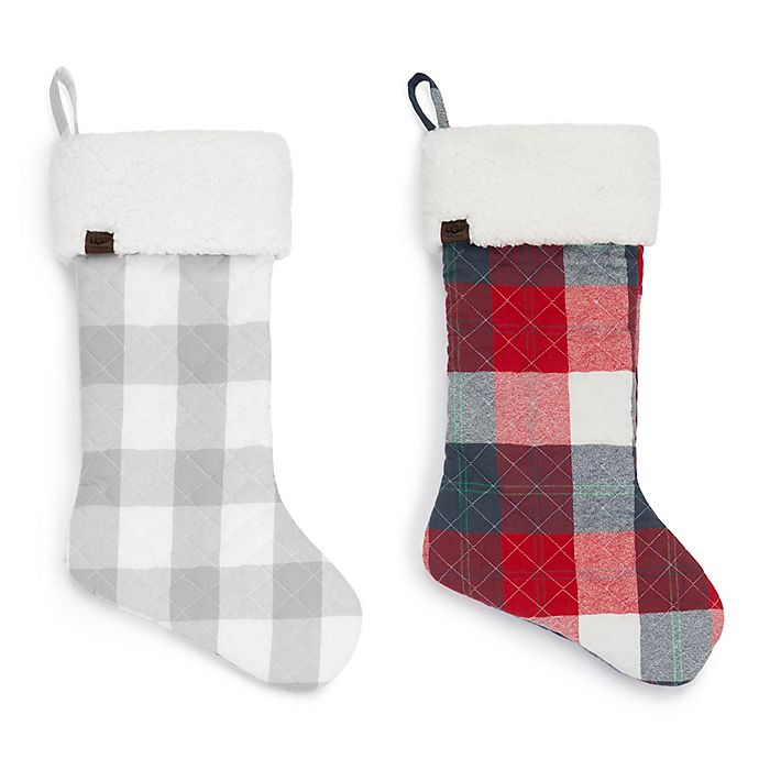 ugg camper plaid christmas decor collection - Plaid Christmas Decor