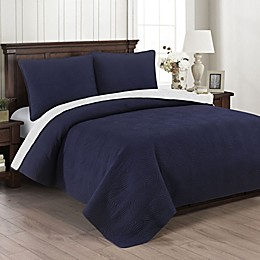 Brielle Wave Embroidered Quilt Set