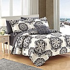Chic Home Mirador Reversible King Quilt Set in Black