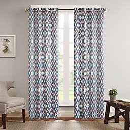 Madison Park Ashlin Diamond Printed Window Curtain Panel (Single)