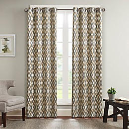 Madison Park Ashlin Diamond Printed Window Curtain Panel