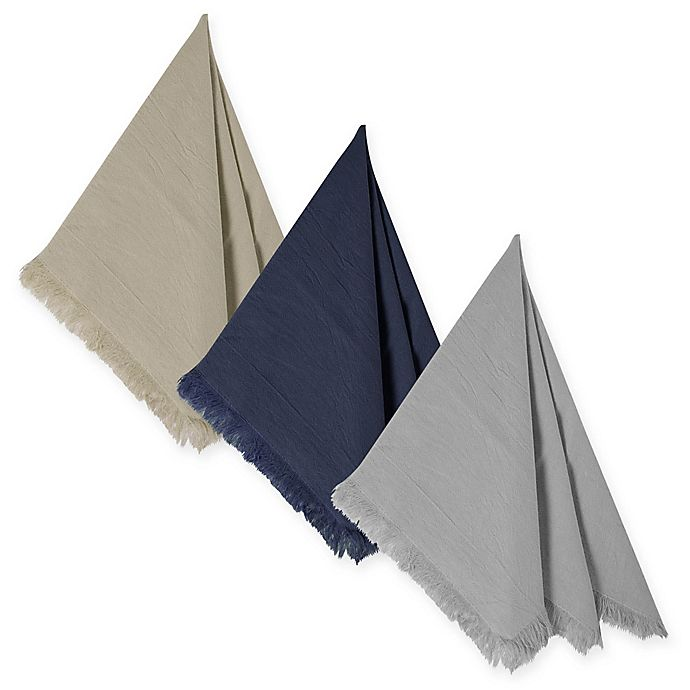 Alternate image 1 for Relaxed Cotton Napkins (Set of 4)
