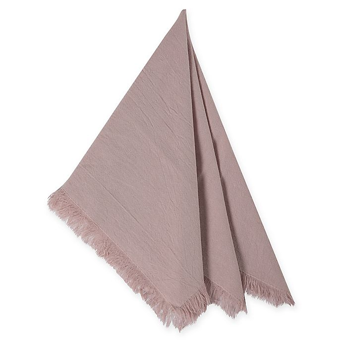 Alternate image 1 for Relaxed Cotton Napkins in Blush (Set of 4)