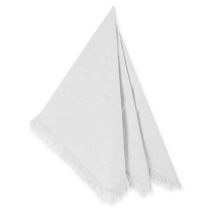 Alternate image 1 for Relaxed Cotton Napkins in White (Set of 4)