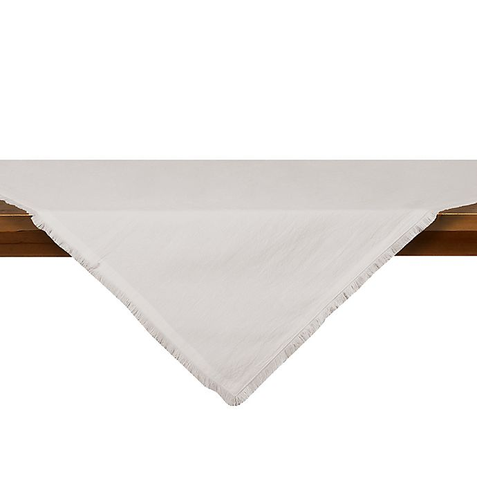 Alternate image 1 for Relaxed Cotton Table Throw in White
