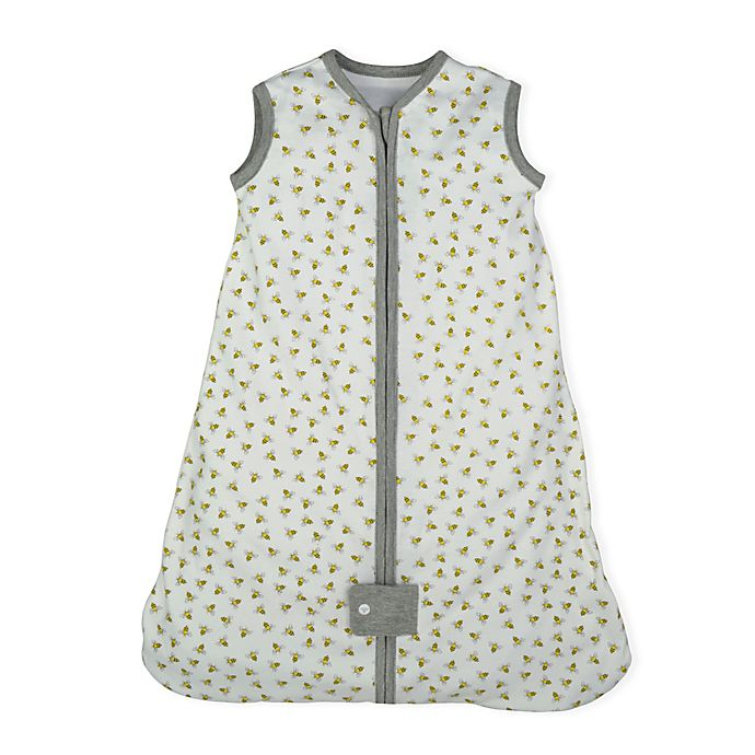 Alternate image 1 for Burt's Bees Baby® Beekeeper™ Organic Cotton Wearable Blanket in White