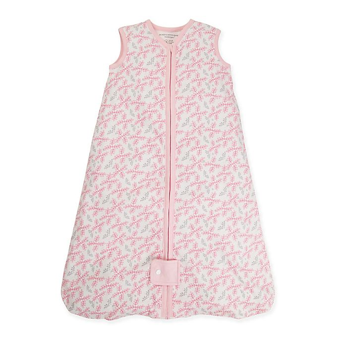 Alternate image 1 for Burt's Bees Baby® Beekeeper™ Large Organic Cotton Wearable Blanket in Pink