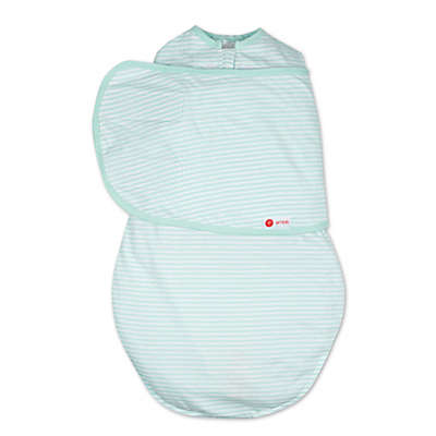 Embe® Stripe Classic 2-Way Swaddle™ in Mint