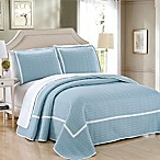 Chic Home Halrowe Reversible Queen Quilt Set in Blue