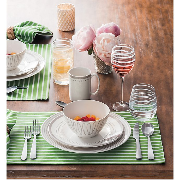 Alternate image 1 for kate spade new york Charlotte Street™ Dinnerware Collection in Grey/White