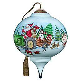 Ne'Qwa 3-Inch Petite Santa's Tree Farm Ornament