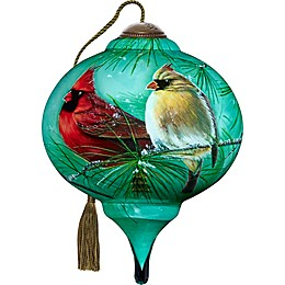 Ne'Qwa 3-Inch Petite Cardinals and White Pine Ornament