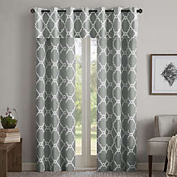 Madison Park Merritt Grommet Top Room Darkening Window Curtain Panel Pair and Valance