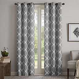 Madison Park Merritt Grommet Top Room Darkening Window Curtain Panel Pair