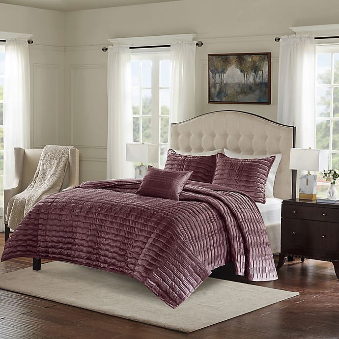 Room Store Chandler: Bombay® Chandler Charmeuse Pleated Coverlet Set