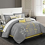 Chic Home Brooke 8-Piece King Comforter Set in Yellow