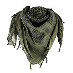 Red Rock Outdoor Gear Tactical Shemagh Head Wrap in Olive Drab/Black