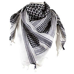 Red Rock Outdoor Gear Tactical Shemagh Head Wrap in White/Black
